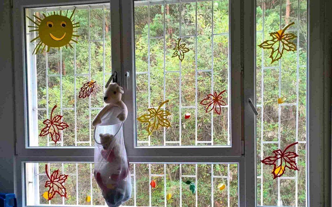 Jesień wszpitalnych oknach