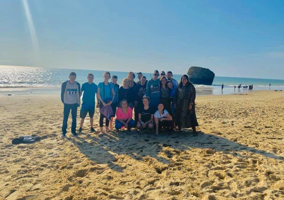Plaża nadoceanem atlantyckim